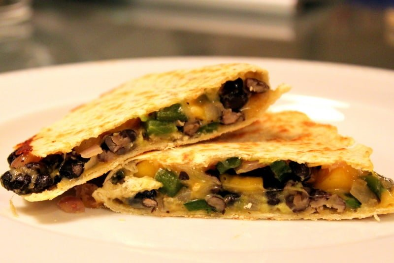 bean goat cheese black bean spinach and cheese black bean quesadillas ...