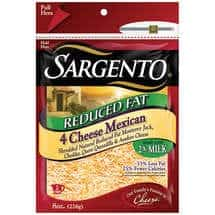 Low fat 4 cheese mexican blend