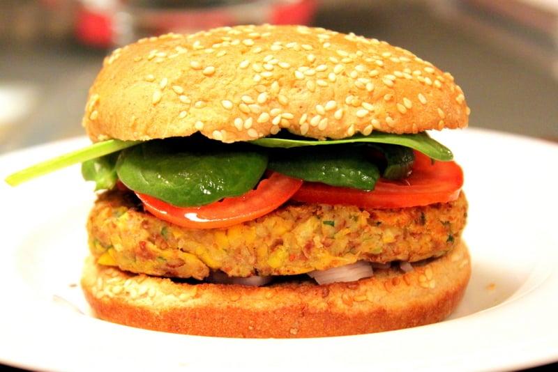 Southwestern Pinto Bean Veggie Burgers - The Picky Eater