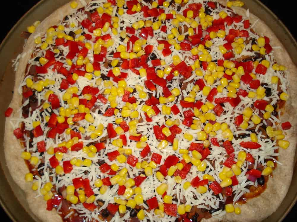 Pizza right before baking