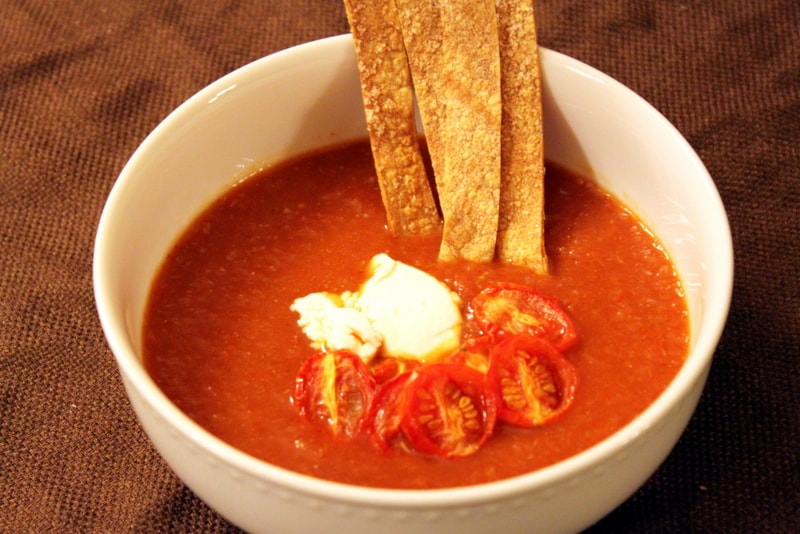 Vegetarian Tortilla Soup with Creative Toppings - The ...
