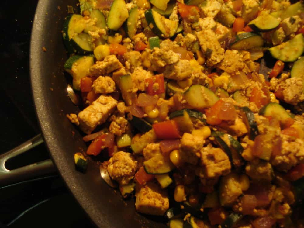 Southwestern Tofu Scramble with Veggies and Stewed Black Beans — The ...