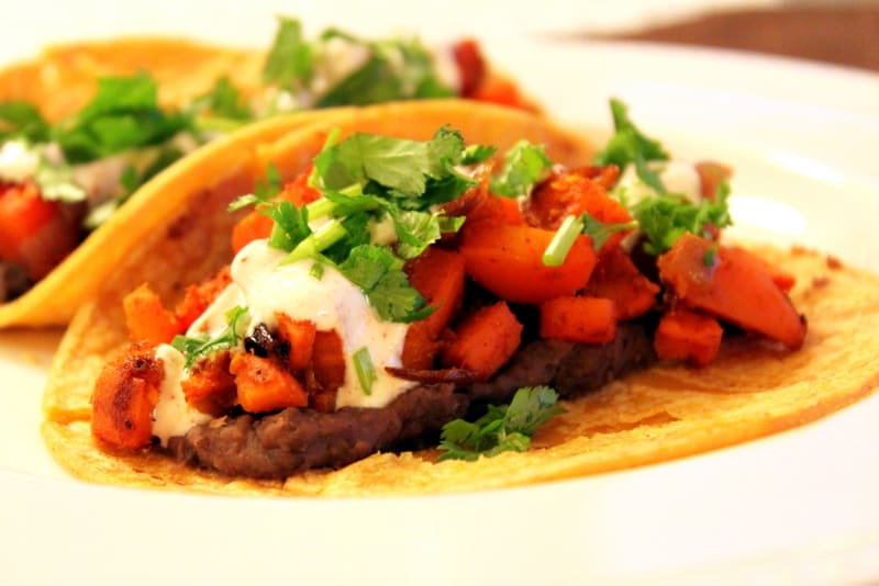 Sweet Potato Tacos with a Spicy Yogurt Sauce — The Picky Eater: A ...