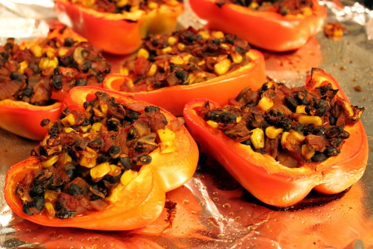Black Bean Chili Stuffed Peppers — The Picky Eater: A Healthy Food ...