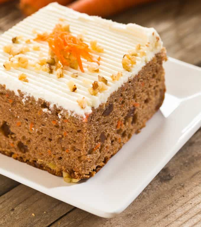 Light and Moist Carrot Cake with Cream Cheese Frosting - The Picky ...