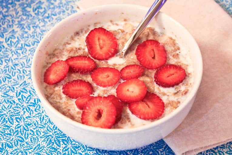 Strawberries And Cream Oatmeal Strawberry Shortcake Oatmeal