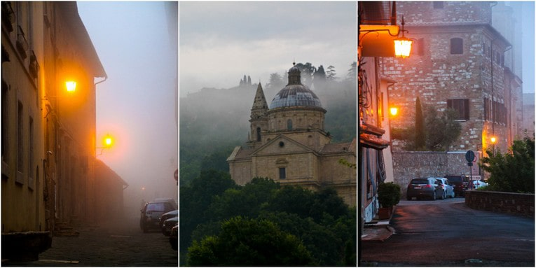 3 - Montepluciano night collage