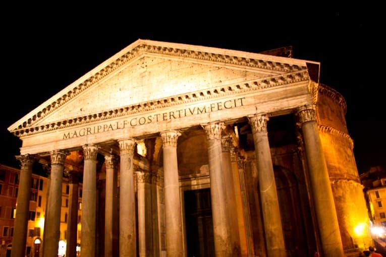 6 - pantheon at night
