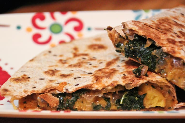 Butternut Squash and Kale Quesadillas - The Picky Eater