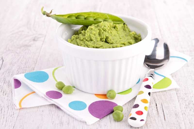 how to cook frozen peas for baby food