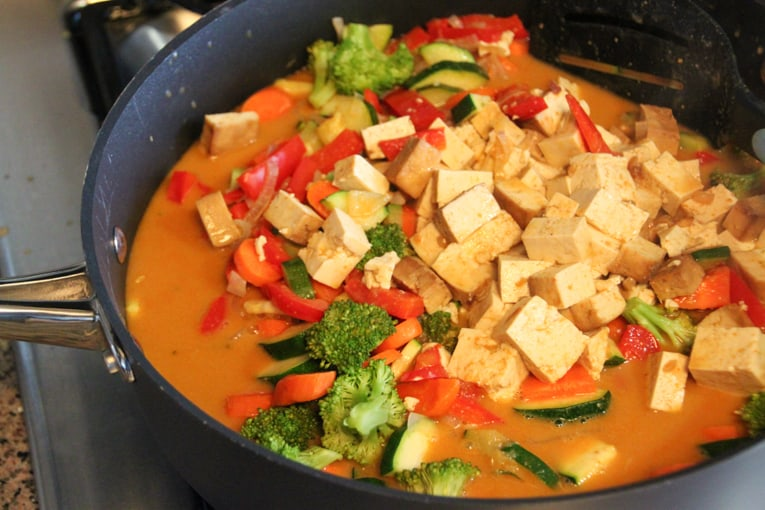 Vegetarian Panang Curry with Tofu - The Picky Eater