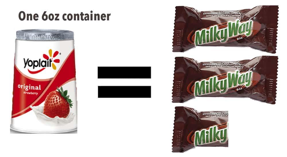 Milky Way Yogurt Milky Way Amount of Sugar in