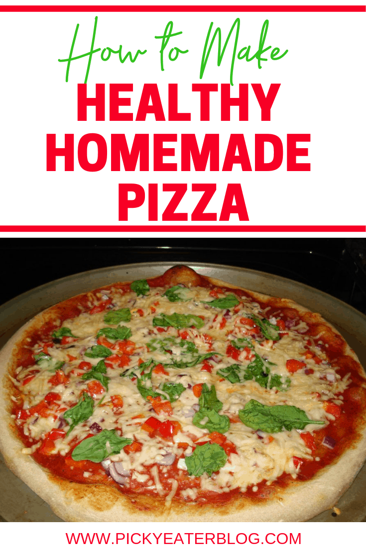 We love homemade Pizza just like everyone else, but we don't love the calories that come with it, that's why I love this Healthy Homemade Pizza Option!
