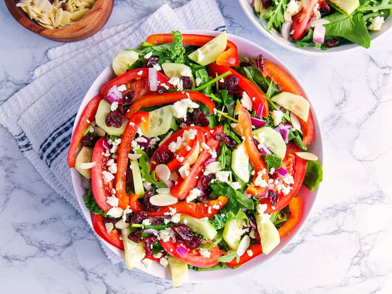 healthy greek salad