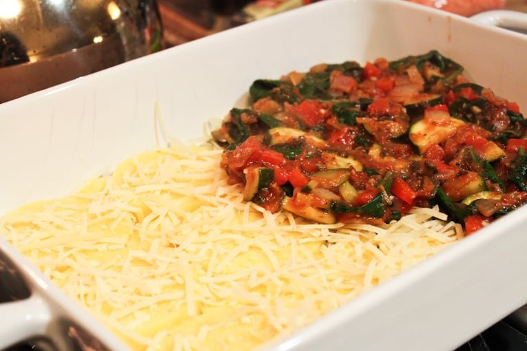 Polenta and Garden Vegetable Bake - easy healthy recipes, tasty healthy recipes, delicious healthy recipes, vegetarian healthy recipes, quick and easy recipes for picky eaters #healthyfood #food