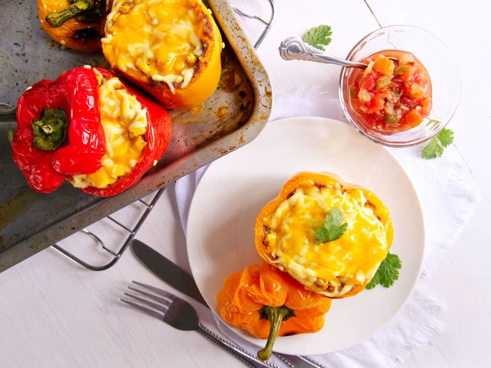 healthy mexican stuffed peppers