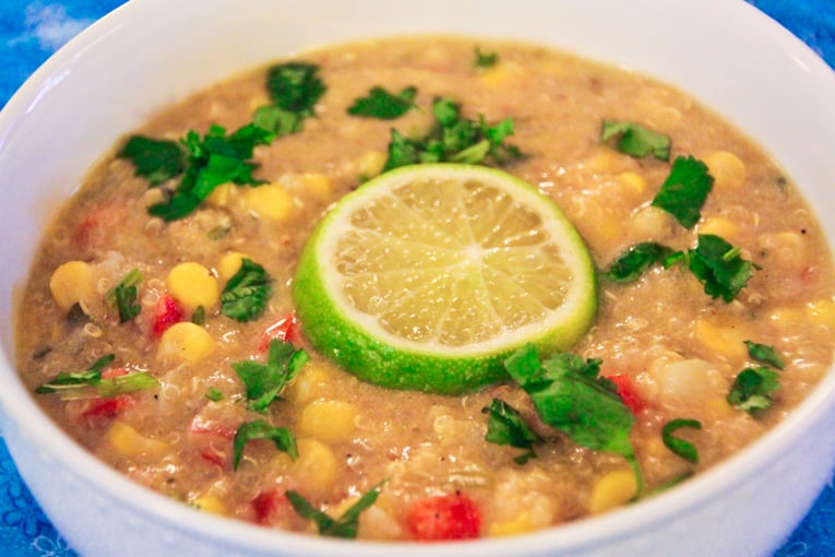 Creamy Corn and Quinoa Chowder - easy healthy recipes, tasty healthy recipes, delicious healthy recipes, vegetarian healthy recipes, quick and easy recipes for picky eaters #healthyfood #food
