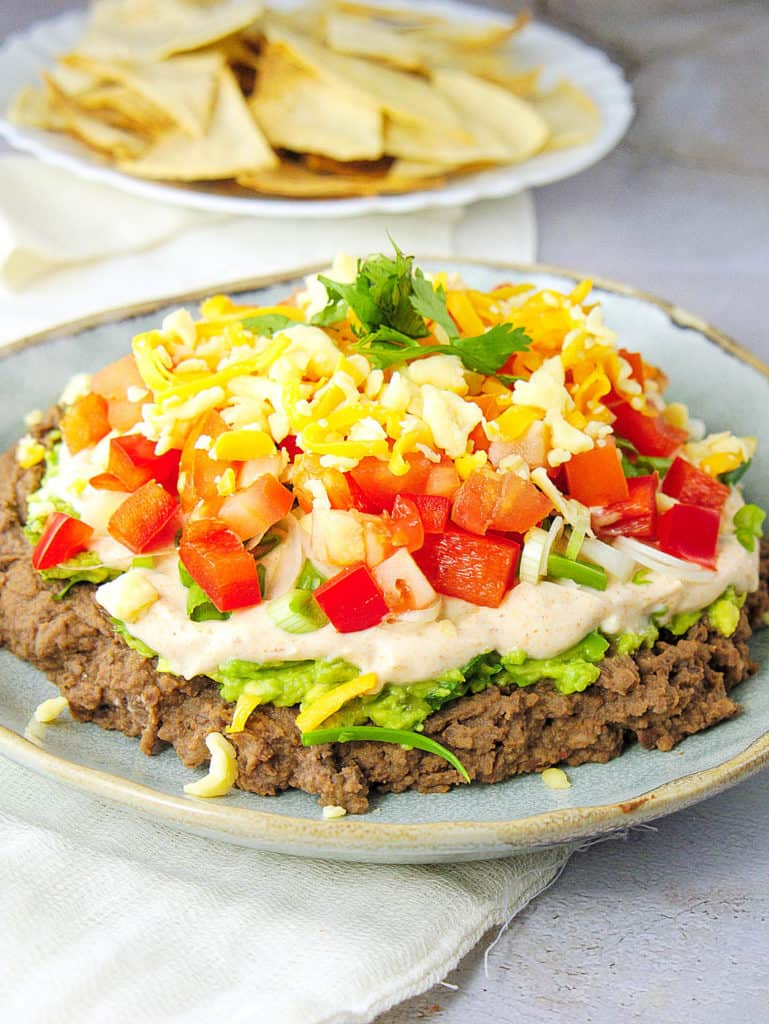 7 Layer Taco Dip Healthy Low Calorie The Picky Eater