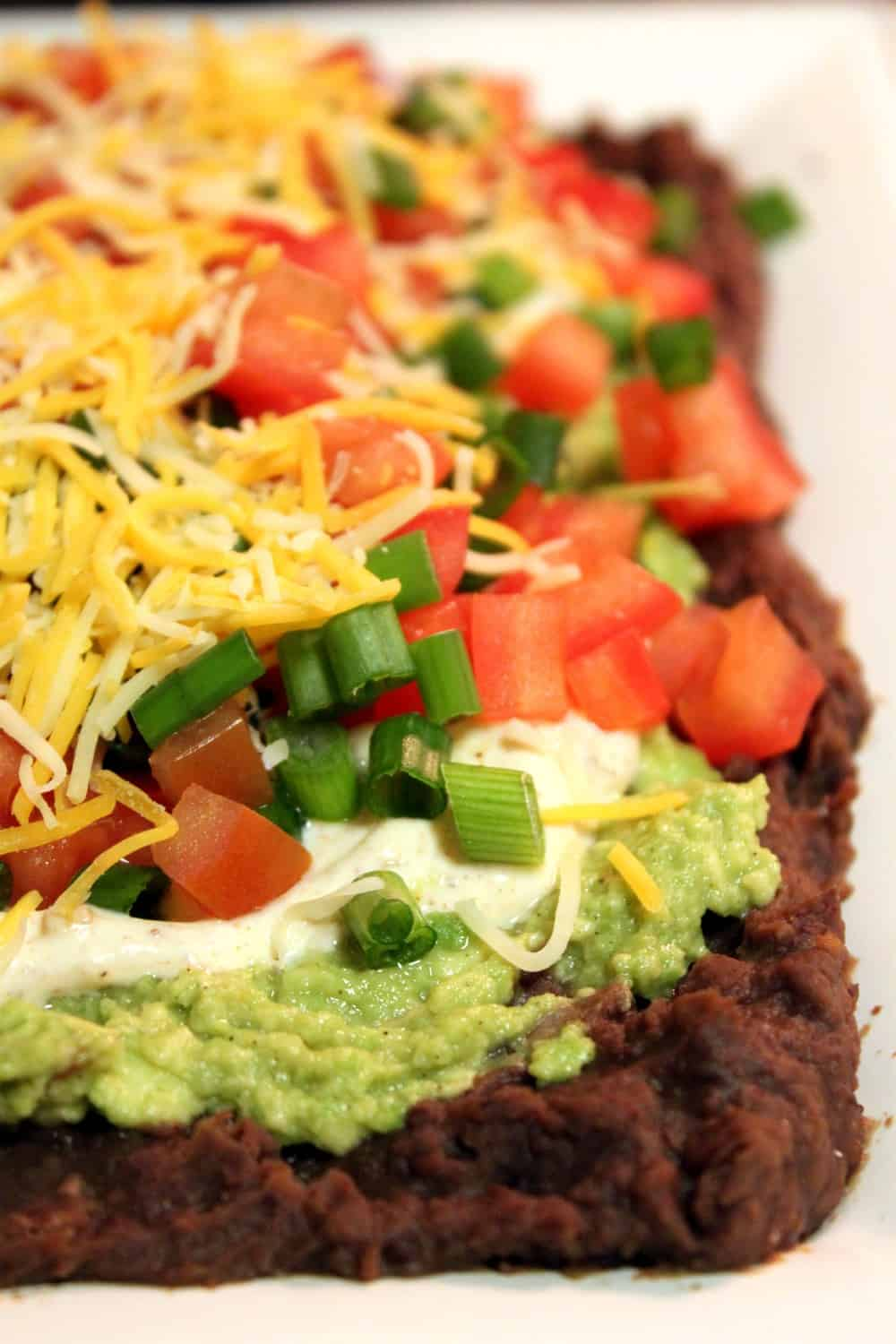 Guilt free healthy 7 layer bean dip the picky eater guilt free healthy 7 layer bean dip forumfinder Choice Image