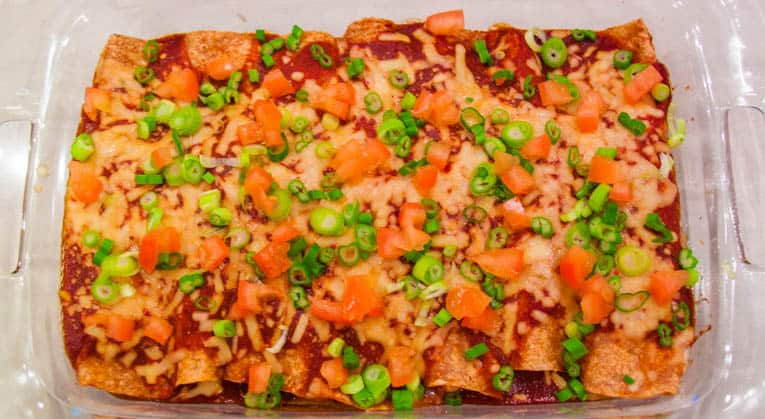 healthy vegetarian enchiladas