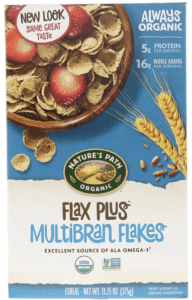 nature's path flax plus bran flakes