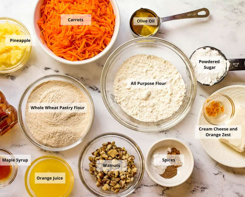 vegan carrot cake ingredients