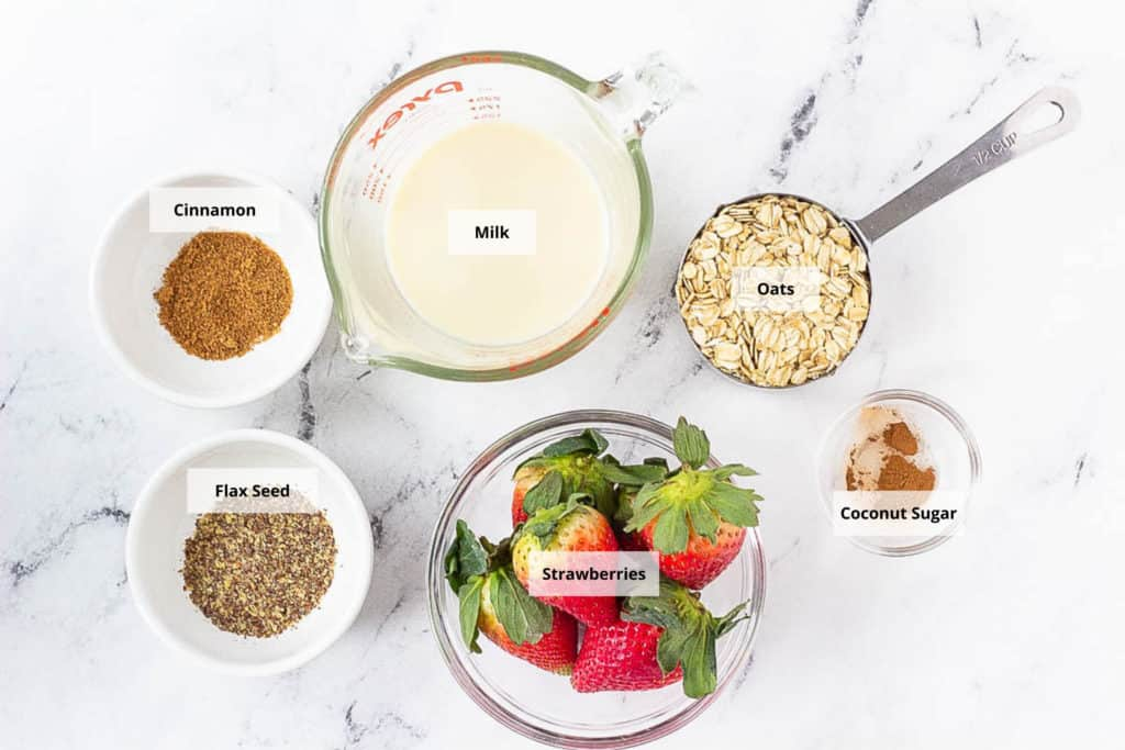 strawberry oatmeal ingredients