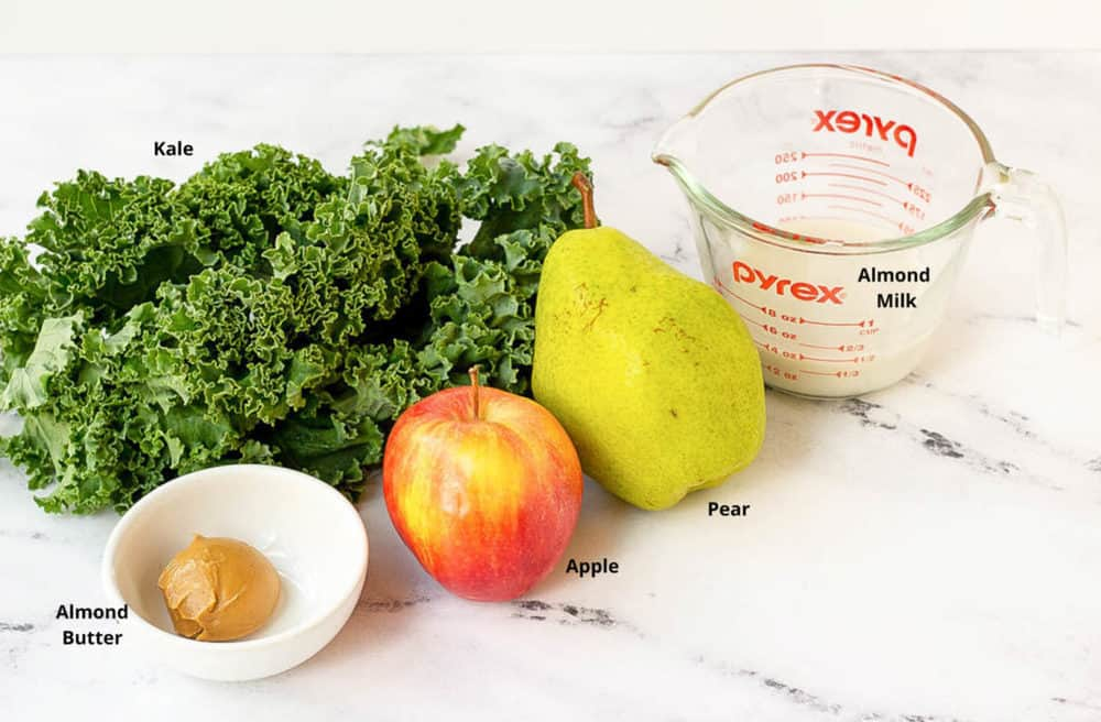 ingredients for kale smoothie