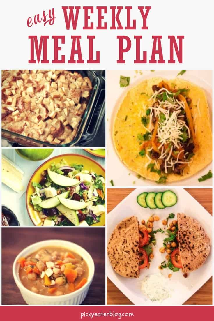 The Picky Eater Meal Plan - easy healthy recipes, tasty healthy recipes, delicious healthy recipes, vegetarian healthy recipes, quick and easy recipes for picky eaters