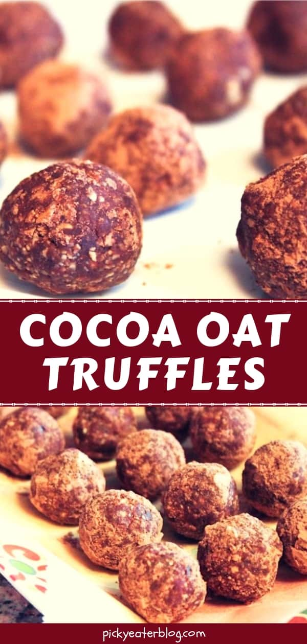 Cocoa Oat Truffles - easy healthy recipes, tasty healthy recipes, delicious healthy recipes, vegetarian healthy recipes, quick and easy recipes for picky eaters #healthyfood #food