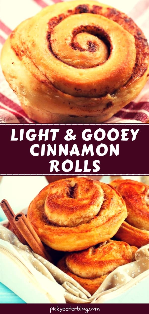 Light and Gooey Cinnamon Rolls - easy healthy recipes, tasty healthy recipes, delicious healthy recipes, vegetarian healthy recipes, quick and easy recipes for picky eaters #healthyfood #food