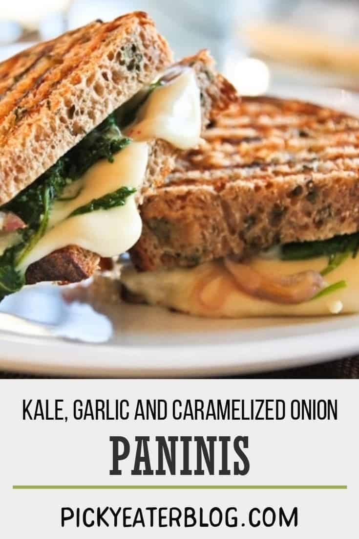 kale garlic and caramelized onion paninis-healthy food yummy, healthy delicious food, healthy food tips for picky eaters, picky kids meals