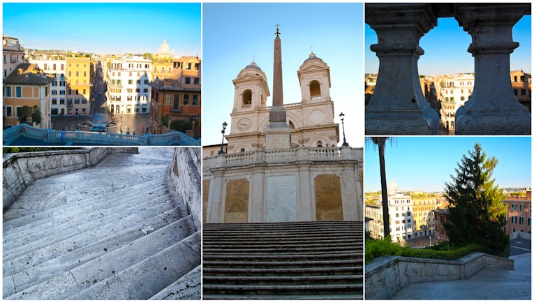 3 - spanish steps collage