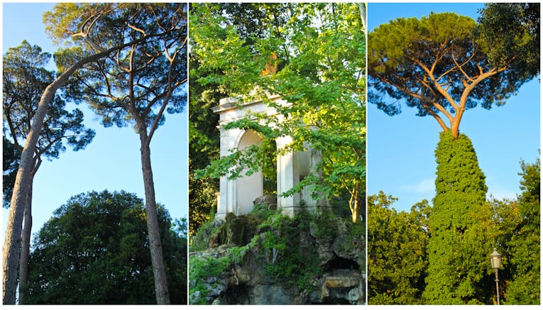 4 - villa borghese park collage