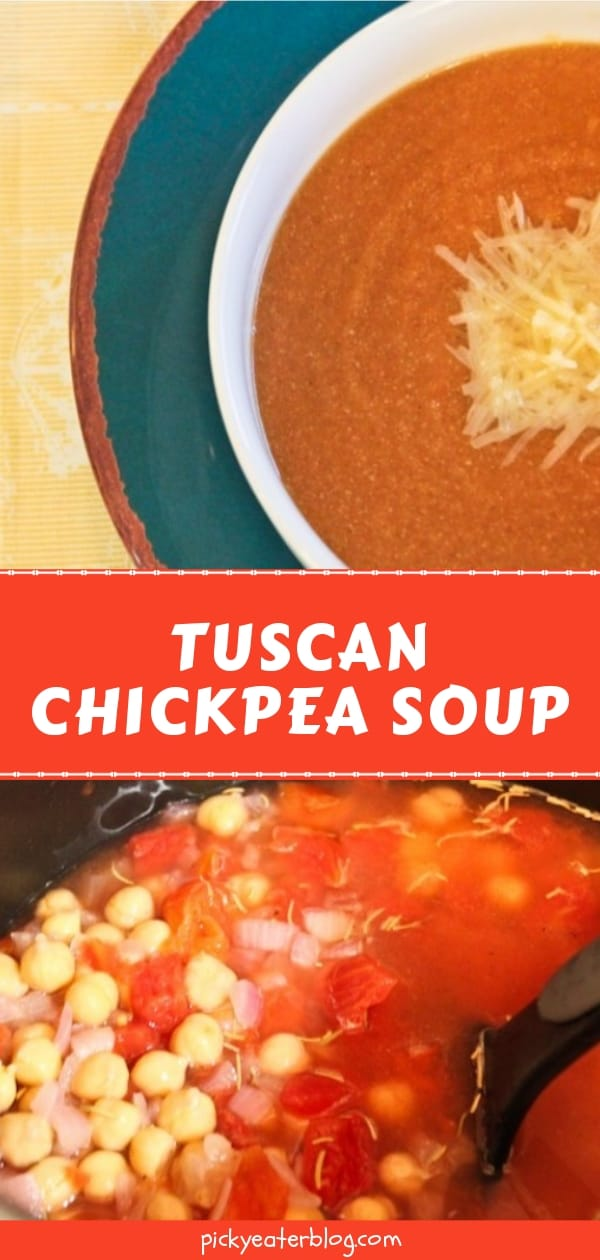 Tuscan Chickpea Soup - easy healthy recipes, tasty healthy recipes, delicious healthy recipes, vegetarian healthy recipes, quick and easy recipes for picky eaters #healthyfood #food