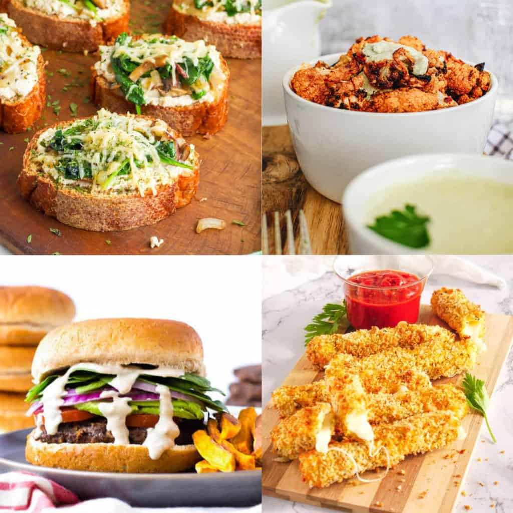 assortment of healthy game day recipes for the super bowl