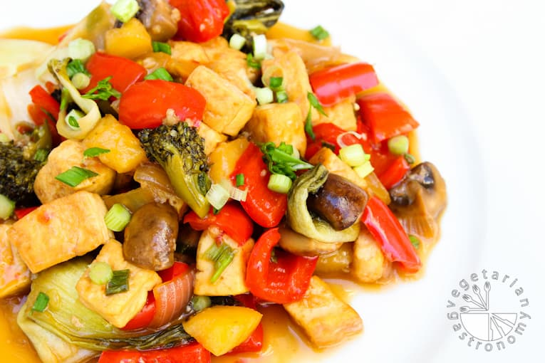 VG sweet and sour vegetable tofu-15