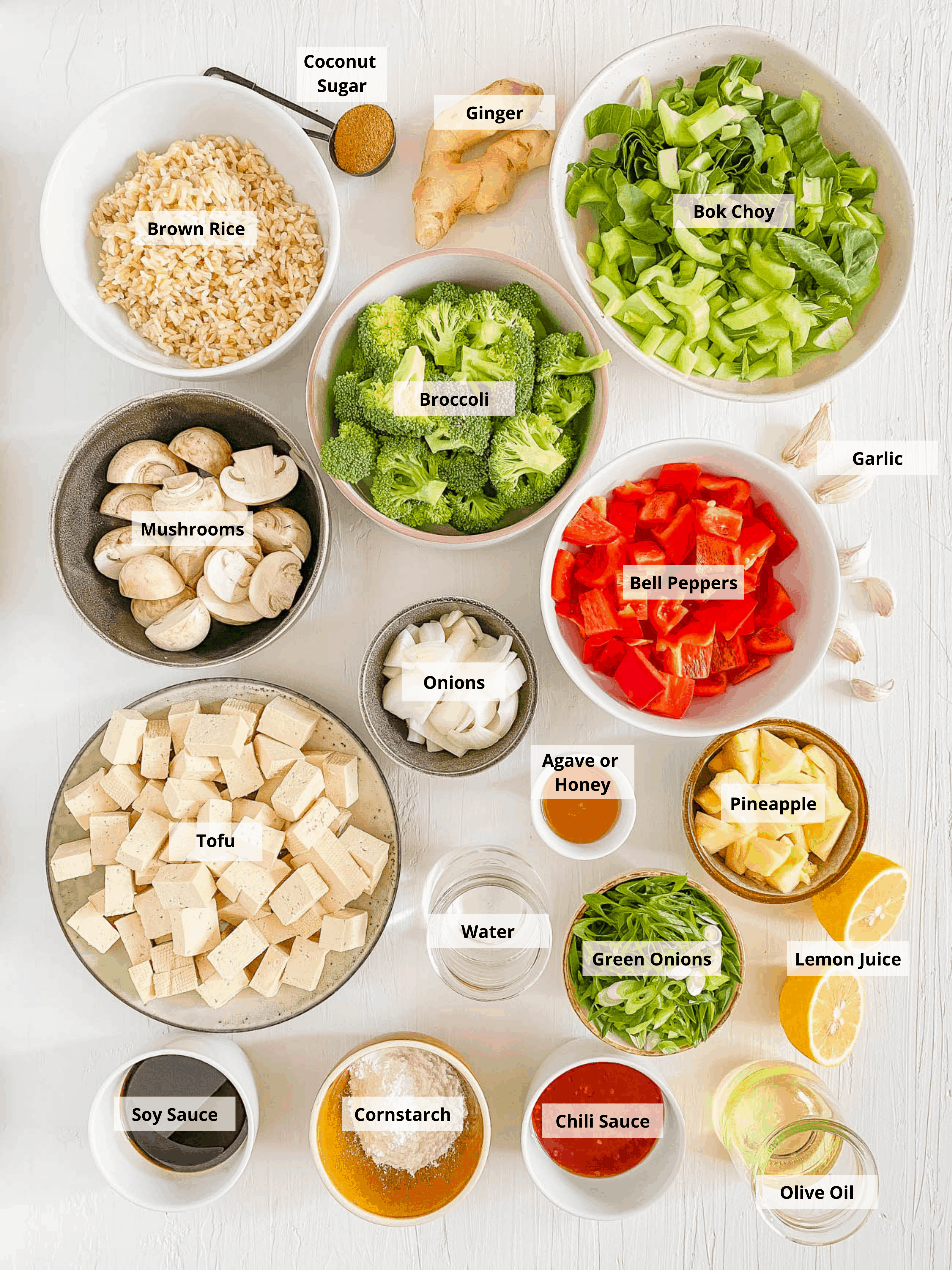 sweet and sour tofu ingredients