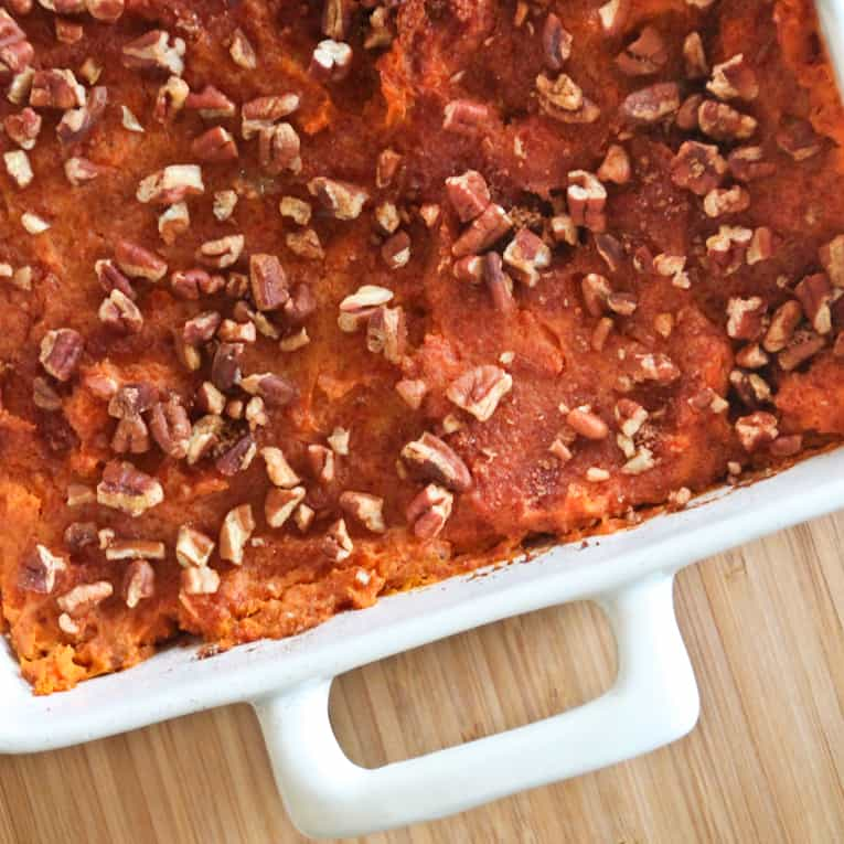 Sweet Potato Casserole - easy healthy recipes, tasty healthy recipes, delicious healthy recipes, vegetarian healthy recipes, quick and easy recipes for picky eaters