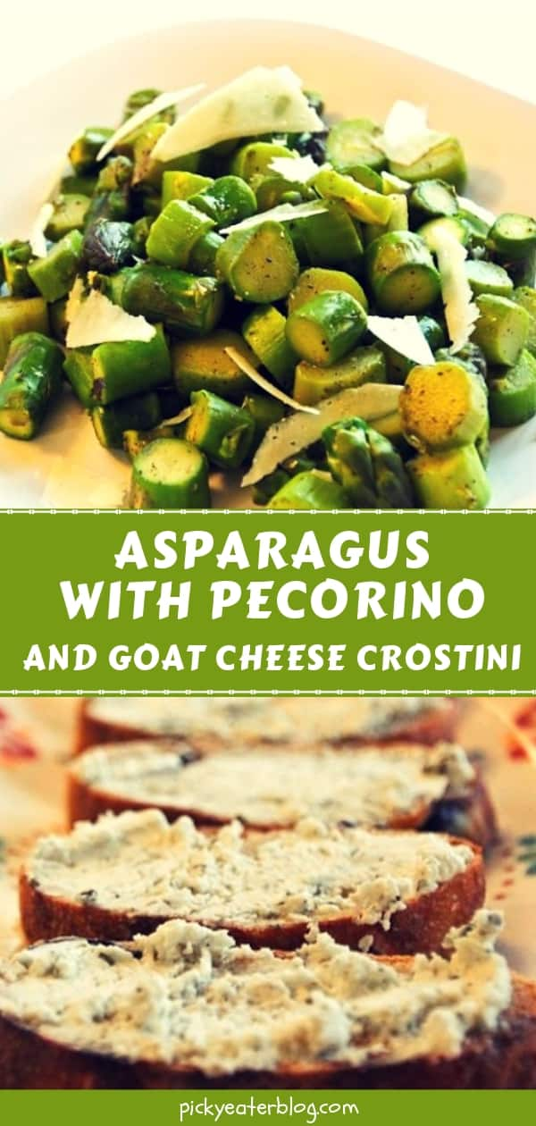 Asparagus with Pecorino and Goat Cheese Crostini - easy healthy recipes, tasty healthy recipes, delicious healthy recipes, vegetarian healthy recipes, quick and easy recipes for picky eaters #healthyfood #food