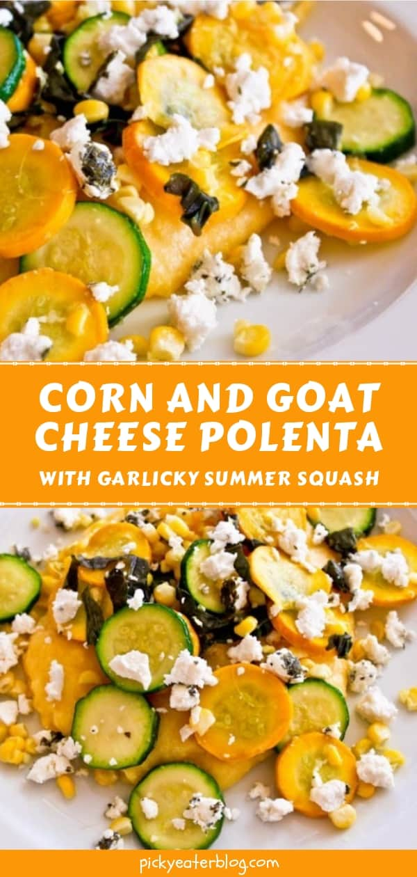 Corn and Goat Cheese Polenta with Garlicky Summer Squash - easy healthy recipes, tasty healthy recipes, delicious healthy recipes, vegetarian healthy recipes, quick and easy recipes for picky eaters #healthyfood #food