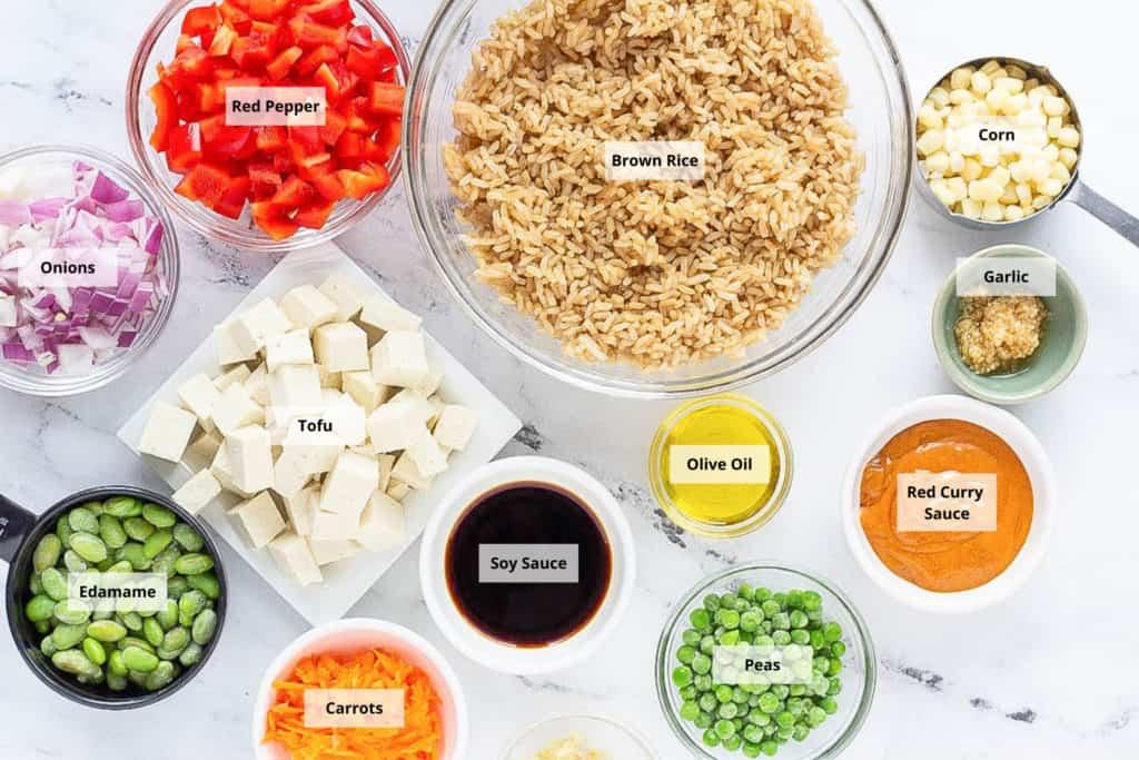 tofu fried rice ingredients