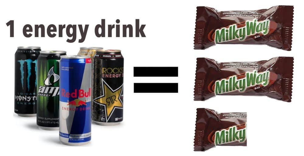 Milky Way - Energy Drinks - amount of sugar