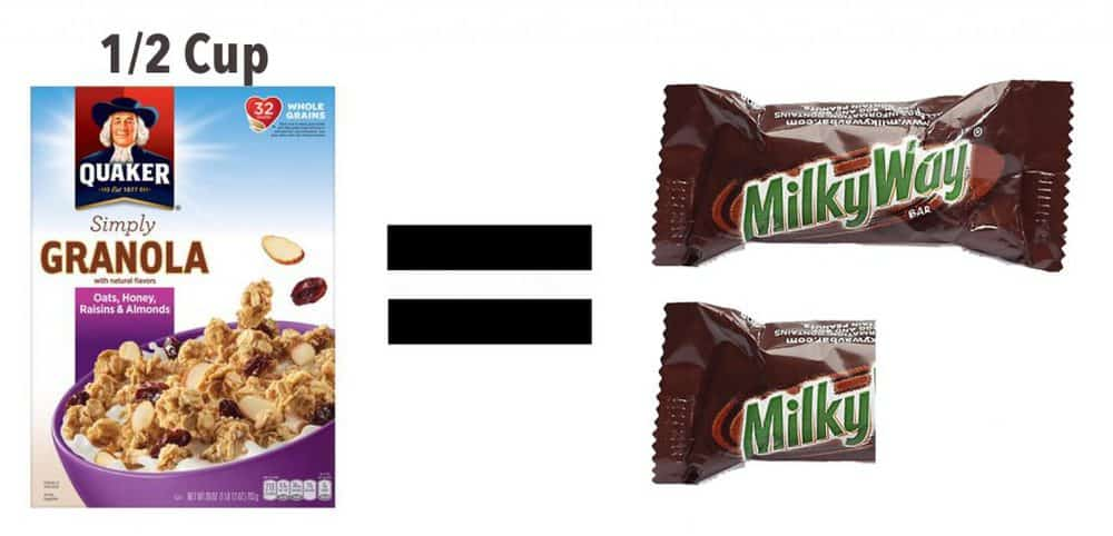 Milky Way - Granola - amount of sugar