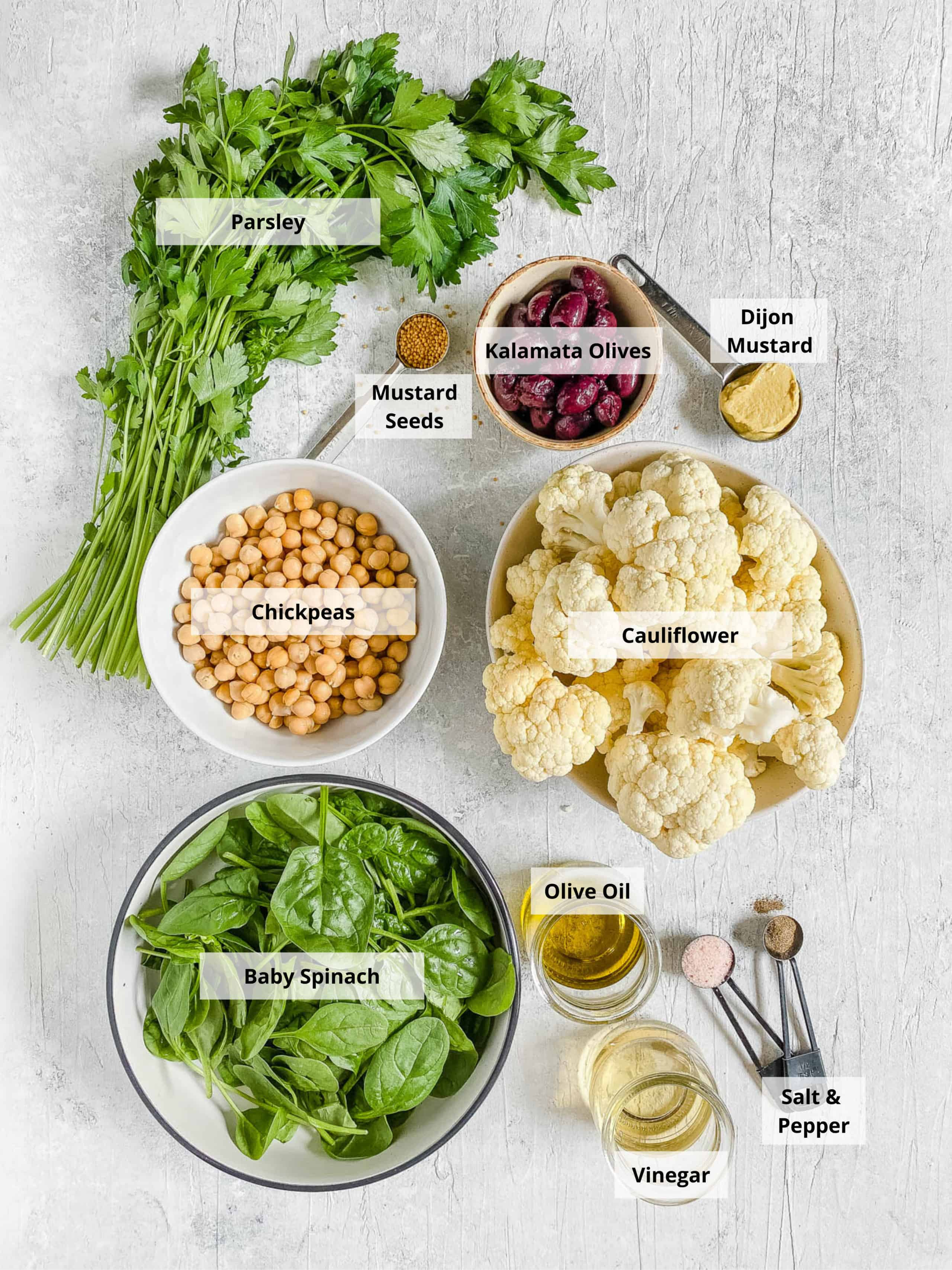 roasted cauliflower salad ingredients