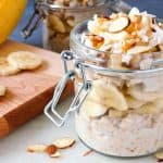 Peanut Butter Banana Protein Packed Overnight Oats The