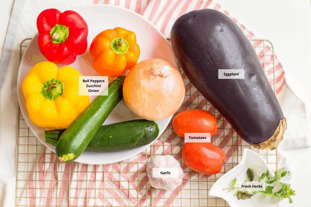 vegan ratatouille ingredients