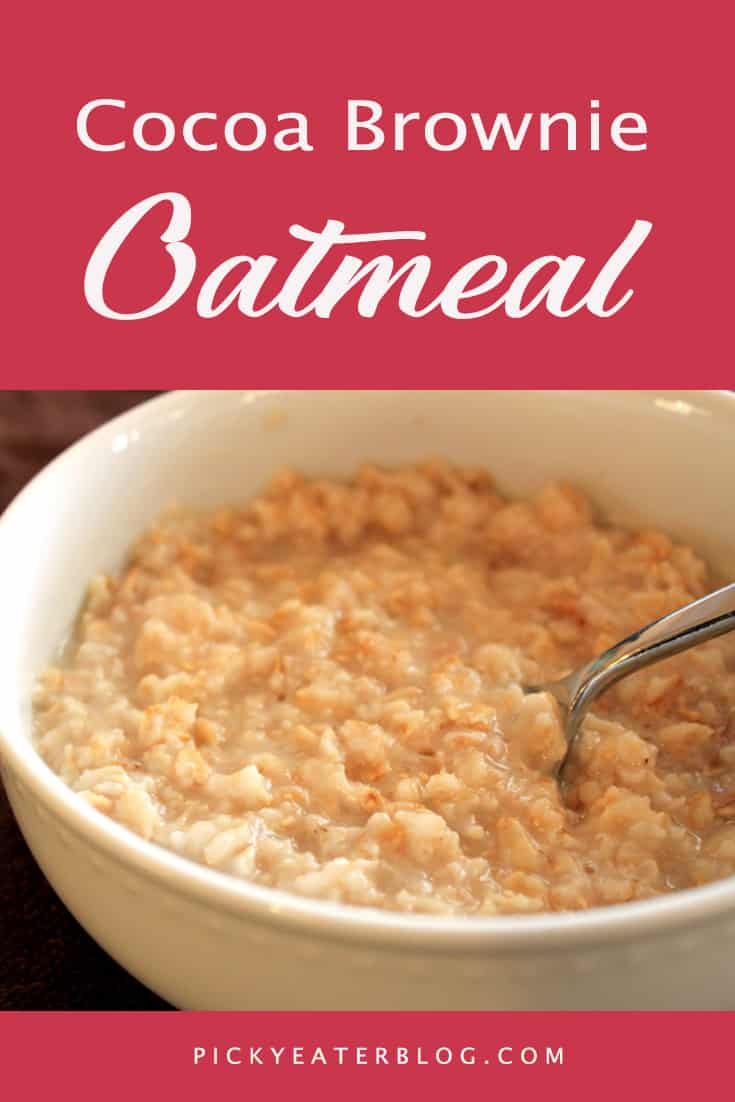 cocoa brownie oatmeal. quick easy recipes, healthy food for picky kids, healthy food for picky husband, healthy tasty food, healthy food on a budget