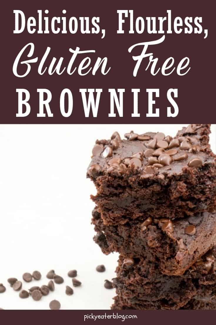 delicious, flourless, gluten free brownies. quick easy recipes, healthy food for picky kids, healthy food for picky husband, healthy tasty food, healthy food on a budget