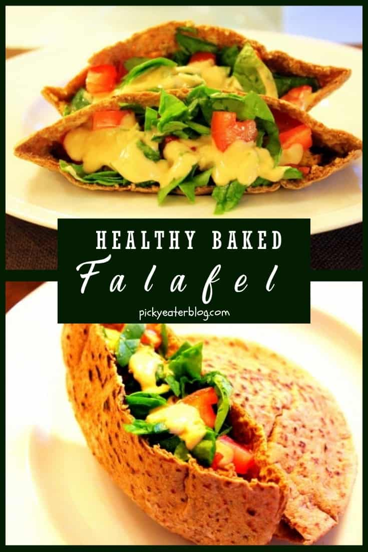 healthy baked falafel. quick easy recipes, healthy food for picky kids, healthy food for picky husband, healthy tasty food, healthy food on a budget